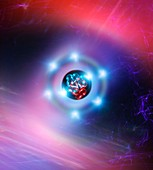 Oxygen atom,conceptual image