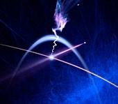 Photon interacting with electron,concept