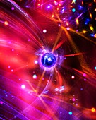 Quantum particles,conceptual image