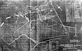 Hindenburg airship flight chart,1937