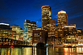 Boston,USA,at night