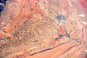 Riyadh region,Saudi Arabia,ISS image