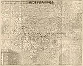 Buddhist world map,1710