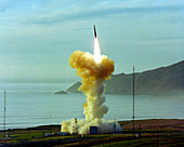 Minuteman nuclear missile launch,1981