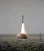Polaris nuclear missile launch,1983