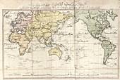 World map,1803 Turkish atlas
