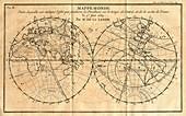 Path of the 1761 transit of Venus
