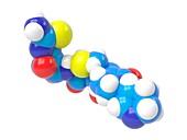 Ceftobiprole antibiotic molecule