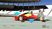 Race car physics,illustration