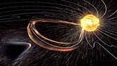 Mars losing atmosphere in solar wind