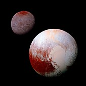 Pluto and Charon,New Horizons view