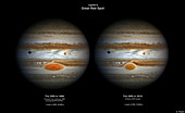 Jupiter's Great Red Spot in 1890 and 2015