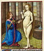 Pygmalion,15th century illustration