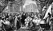 Louis XIV at opening of Paris Observatory
