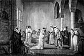 Turkish harem,19th C illustration