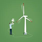 Green energy,conceptual illustration
