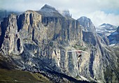 Hang glider in the Dolomites,Italy