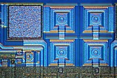 Microchip surface,light micrograph