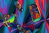 Abstract polarised light micrographs