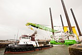 The jack up barge,Goliath