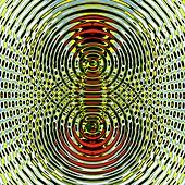Circular wave interference,illustration