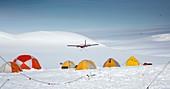 Aircraft landing,Antarctica