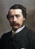 1871 George John Romanes portrait colour