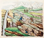 1834 Geology as a Hobby stratified rock