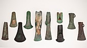 Europe axes from early to late Bronze age
