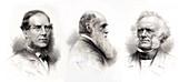 1875 Charles Darwin hooker lyell portrait
