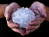 Giant Hailstone from the American Midwest