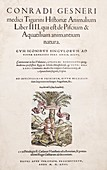 1558 Gesner first Animal Encyclopedia