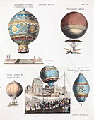 1783 World's First flying balloons design