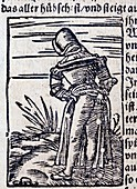 1560 medieval woodcut maiden defecating