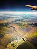 View from aeroplane over Arizona,USA