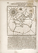 Tycho's observatory island of Hven,1580s