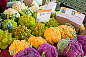 Cauliflower market stall,USA