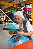 Backstrap loom weaver,Mexico