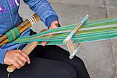 Backstrap loom weaving,Mexico