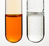 Bromine water test for alkenes