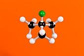 2-chloro-2-methylpropane,molecular model