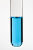 Test tube of copper water ion