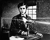 Michelson and his interferometer,1870s