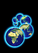 Geosphere images of the whole Earth