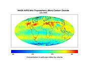 Global carbon dioxide concentration