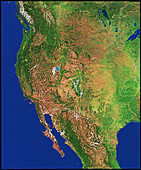 Western USA & North America from space