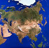 Asia satellite mosaic,1km resolution