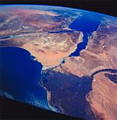 Sinai Peninsula and Nile River Delta