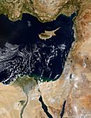 Eastern Mediterranean Sea,Terra image