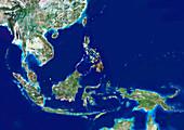 Southeast Asia,satellite image